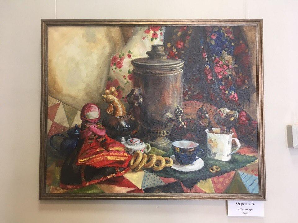 От самовара до Мандельштама что волнует студентов художников  Он является продолжением картины с таким же незатейливым названием Матрешки тоже натюрморт посвященный русскому чаепитию Писалась работа Самовар в